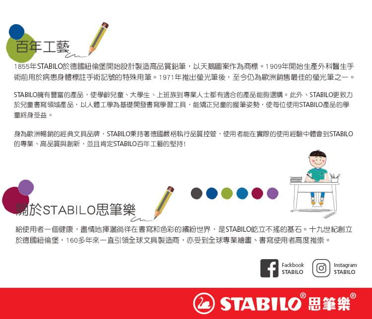 STABILO思筆樂EASYergo 1.4胖胖鉛人體工學自動鉛筆